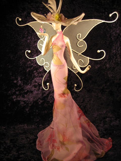 Pink Butterfly Jewelry Doll